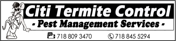 Citi Termite Control offers pest management services for Roaches, Mice, Rats, Bedbugs, Termites, Ants, Fleas, Flies, Spiders, Bees and more. We take pride in our work and care about our customer's satisfaction. Call 718 845 5294 for a free estimate!